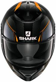 shark full face helmet spartan carbon silicium with sun visor