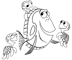 finding nemo coloring pages wecoloringpage
