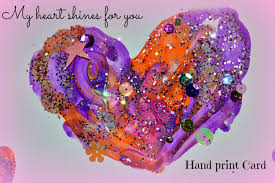 valentine u0027s day crafts for kids shiny hand prints cards kids