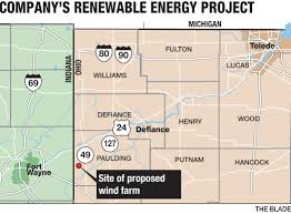 Van Wert Ohio Map by Amazon Pins Big Hopes On Area Wind Farm The Blade