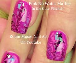 Robin Moses Nail Art by Robin Moses Nail Art Black And White No Water Marble