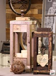 Wood Decor by Easy Outdoor Decor How To Make Lanterns From Scrap Wood Diva Of Diy