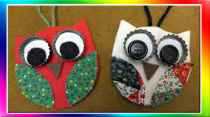 christmas decorations to make at home easy owl christmas ornaments youtube