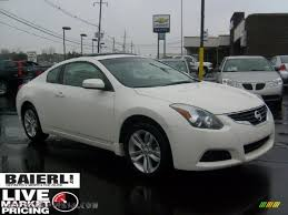 nissan altima coupe in snow 2010 nissan altima 2 5 s coupe in winter frost white 125743