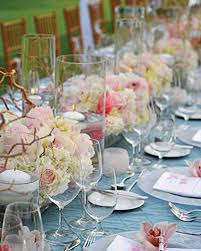 Black Blue And Silver Table Settings 37 Pink Wedding Centerpieces Martha Stewart Weddings