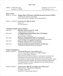 Ex Military Resume Examples by Military Resume Examples Sample Student Pharmacist Resume