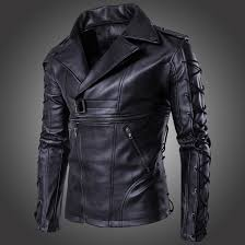 mens textile motorcycle jacket men u0027s punk zipper side lace up faux leather motorcycle biker