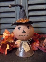 primitive handmade halloween jack o lantern make do small vintage