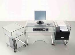 furniture awesome minimalist computer desk with glass design and