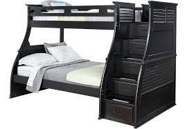 belmar black 4 pc twin full step storage bunk bed bunk loft beds