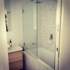 bathroom mosaics scandinavian ikea shower over bath my home