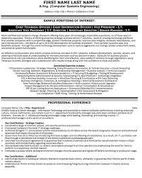 Sample Resume For Senior Manager by Cto Resume Examples Sample It Director Resume It Director Sample