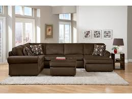 Chocolate Living Room Furniture by Monarch Chocolate 3 Pc Sectional Value City Furniture