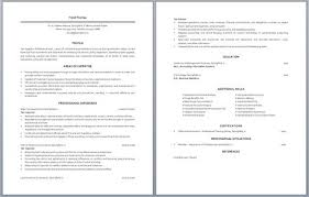 Tax Accountant Sample Resume by Chartered Accountant Resume Accounting Resume Samples