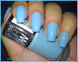 maybelline color show blue berry ice review the nail art and