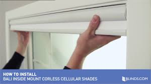 how to install bali cordless cellular shades inside mount
