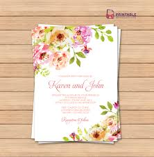 Birthday Invitation Cards For Kids Flat Floral Free Printable Birthday Invitation Template