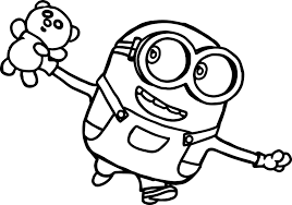 bob minions movie 2015 coloring page wecoloringpage