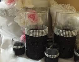 Black Centerpiece Vases by Wedding Centerpiece 5 Glitter Vases Bridal Bouquet Holder