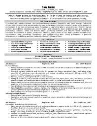 Resume Examples For Food Service by Resume Example