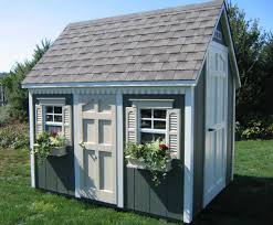 shed with playhouse on side homeplace structures 6x8 backyard
