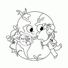 love the earth earth day holiday coloring page for kids