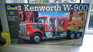 kenworth truck models unboxing revell kenworth w900 youtube