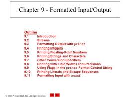 Chapter   End to End Data Outline     Presentation Formatting     Purdue OWL  Developing an Outline