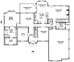 One Story Colonial House Plans 4500 Sq Ft One Story House Plans Arts