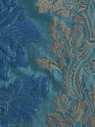 halo embroidered vase damask back tab dupioni curtains