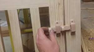 simple wooden latch and wooden hinges youtube
