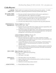 resume career objective internship resume sample for internship