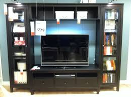 black entertainment center ikea with glass tall bookcase doors