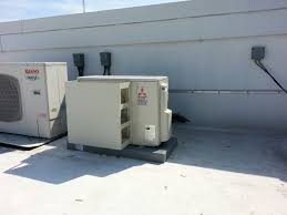 mitsubishi minisplit ac outdoor unit for server room heating
