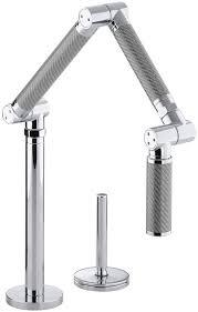 kohler k 6227 c11 cp karbon articulating deck mount kitchen faucet