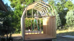 building a gambrel roof barn shed from scratch on vimeo