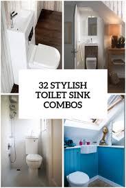 Bathroom Sink Ideas For Small Bathroom 32 Stylish Toilet Sink Combos For Small Bathrooms Digsdigs