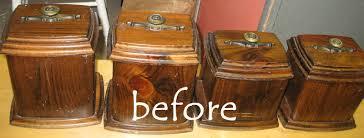 Vintage Kitchen Canister Set Kammy U0027s Korner Vintage Revival Shabby Canister Set