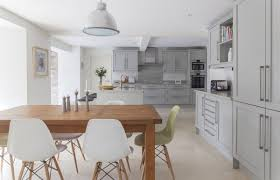 Height Of Kitchen Table by Chic Height Of Kitchen Counter Backsplash That Using Gray Honed