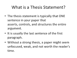 how do i write a thesis statement for an essay