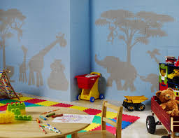 brown varnished wood storage red wool rug playroom interior design
