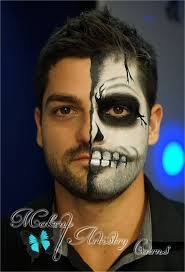 Skeleton Makeup For Halloween by Half Face Halloween Makeup Halloween Makeup Ideas For Halloween