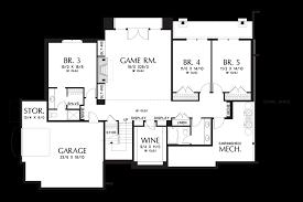 Simple House Floor Plan Design Mascord House Plan 2467 The Hendrick