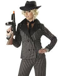 1920 Halloween Costumes Women U0027s 1920 U0027s Pinstriped Gangster Suit Pinstriped Gangster Costume