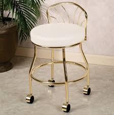 Vanity Stools With Wheels Gold Vanity Stool Vanity Decoration