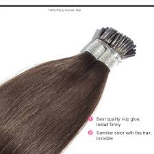Human Hair Glue In Extensions by 6 30 Inch 4 Medium Brown Stick I Tip Straight Real Human Hair