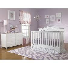 White Convertable Crib by Fisher Price Mia 4 In 1 Convertible Crib Snow White Walmart Com