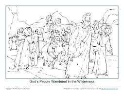 god u0027s people wandered in the wilderness coloring page children u0027s