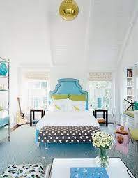 House Beautiful Fun Blue Green Brown Eclectic Girls Bedroom - House beautiful bedroom design