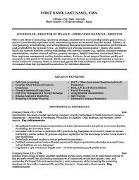 Director Of Operations Resume Sample by Finance Resume Sample U0026 Template